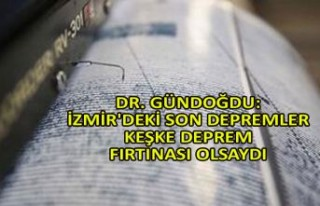Dr. Gündoğdu: İzmir'deki son depremler keşke...