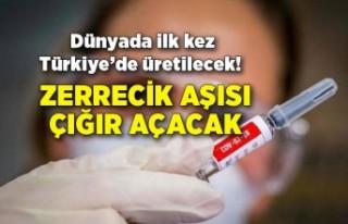 Dünyada ilk kez Türkiye'de üretilecek! Zerrecik...