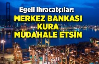 Egeli ihracatçılardan Merkez Bankası kura müdahale...