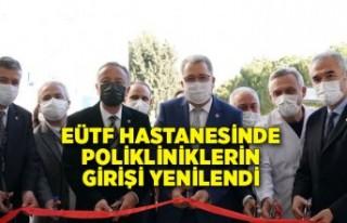 EÜTF Hastanesinde polikliniklerin girişi yenilendi
