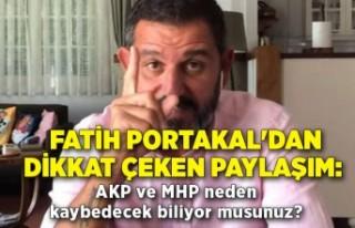 Fatih Portakal'dan dikkat çeken paylaşım:...