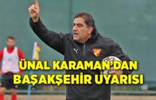 Göztepe'de Ünal Karaman'dan Başakşehir...