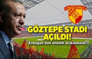 Göztepe Stadı Açılış Töreni'nde önemli...