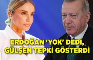 Gülşen'den Cumhurbaşkanı Erdoğan'ın sözlerine...