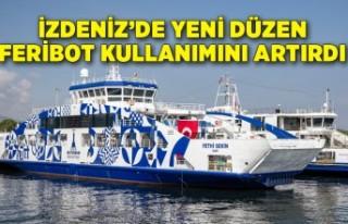 İZDENİZ'de yeni düzen feribot kullanımını...