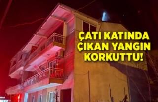 İzmir'de bir binanın çatı katında çıkan...