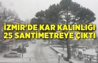 İzmir'de kar kalınlığı 25 santimetreye çıktı