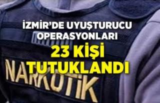 İzmir'de son bir hafta içinde uyuşturucu operasyonlarında...