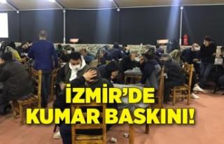 İzmir'de kumar baskını: 763 bin 760 lira para...