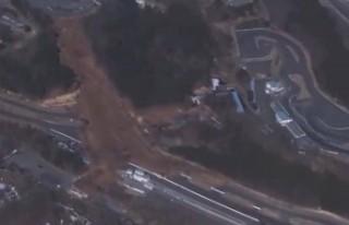 Japonya'daki depremin yarattığı tahribat görüntülendi