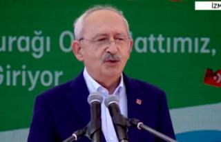 Kılıçdaroğlu konuşurken dikkat çeken slogan