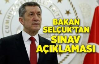 Milli Eğitim Bakanı Ziya Selçuk'tan sınav...