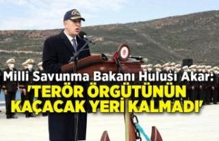 Milli Savunma Bakanı Hulusi Akar: 'Terör örgütünün...
