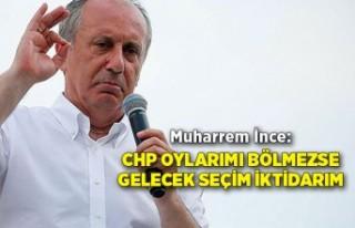 """Muharrem İnce: """"CHP oylarımı bölmezse gelecek..."""