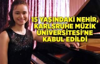 Nehir, Almanya'nın saygın müzik okuluna kabul...