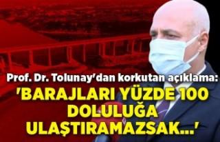 Prof. Dr. Tolunay'dan korkutan açıklama: 'Barajları...