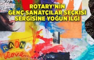 Rotary'nin genç sanatçılar seçkisi sergisine...