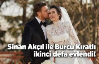 Sinan Akçıl ile Burcu Kıratlı ikinci defa evlendi!