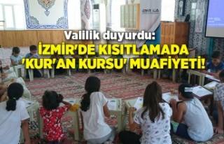 Valilik duyurdu: İzmir'de kısıtlamada 'Kur'an...