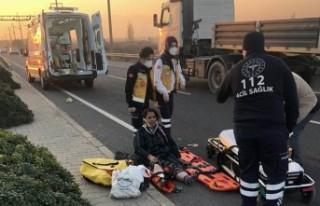 Yaralanan annesini bırakıp olay yerinden uzaklaştı