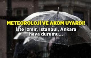 24 Mart 2021 İstanbul, İzmir, Ankara hava durumu:...
