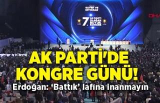 AK Parti'de kongre günü: Erdoğan'dan...