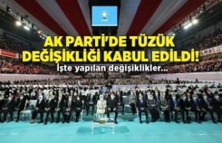 AK Parti'de tüzük değişikliği kabul edildi!...