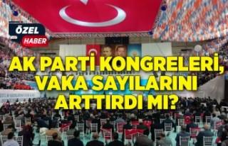 AK Parti kongreleri, vaka sayılarını arttırdı...