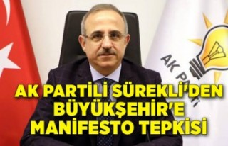 AK Partili Sürekli'den Büyükşehir'e...