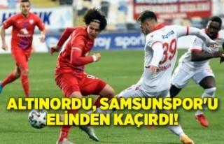 Altınordu, Samsunspor'u elinden kaçırdı!