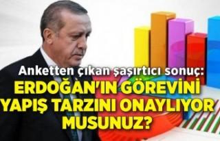Anketten çıkan şaşırtıcı sonuç: Erdoğan'ın...