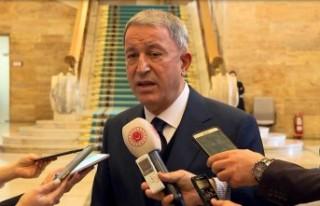 Bakan Akar: Amacımız Suriye'de ateşkesin kalıcı...