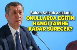 Bakan Selçuk açıkladı: Okullarda eğitim hangi...