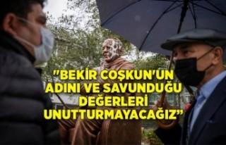 Başkan Soyer, Bekir Coşkun Heykeli'ne saldırıyı...