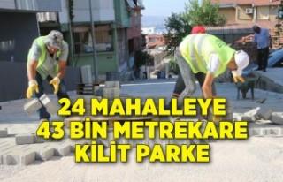 Bayraklı'da 24 mahalleye 43 bin metrekare kilit...