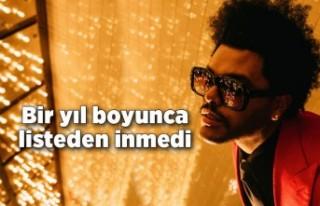 The Weeknd, bir yıl boyunca listeden inmedi