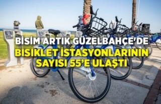 Bisiklet istasyonlarının sayısı 55'e ulaştı
