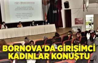 Bornova'da girişimci kadınlar konuştu