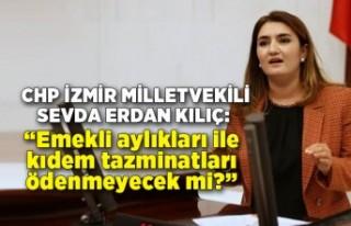 CHP İzmir Milletvekili Av. Sevda Erdan Kılıç soru...