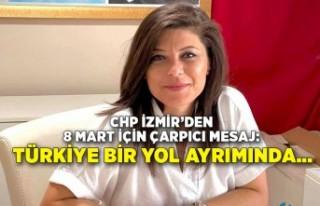 CHP İzmir'den 8 Mart için çarpıcı mesaj