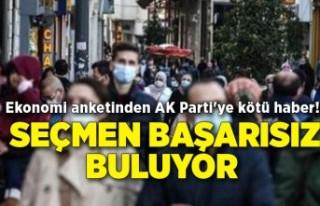 Ekonomi anketinden AK Parti'ye kötü haber!...
