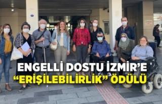 """Engelli dostu İzmir'e """"erişilebilirlik"""" ödülü"""