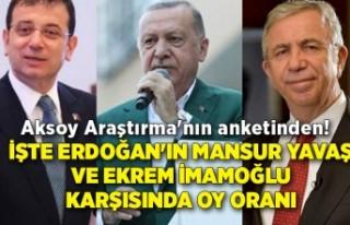İşte Erdoğan'ın Mansur Yavaş ve Ekrem İmamoğlu...