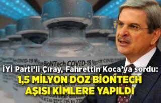 İYİ Parti'li Çıray, Fahrettin Koca'ya sordu:...