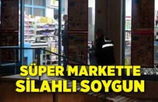 İzmir Bornova'da süper markette silahlı soygun...