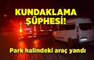 İzmir Buca'da yanan araçta kundaklama şüphesi