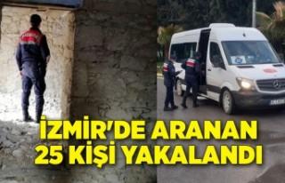 İzmir'de aranan 25 kişi yakalandı