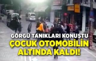 İzmir'de çocuk otomobilin altında kaldı!...