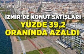 İzmir'de konut satışları yüzde 39,2 oranında...