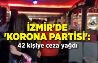 İzmir'de 'korona partisi': 42 kişiye...